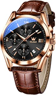 Sponsored Ad - OLEVS Mens Watches, Multi-Function Chronograph Analog Quartz Waterproof Business Watch Stainless Steel Case...