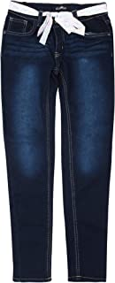 dELiAs Girls' Super Stretchy Denim Jeans with Colorful Sash Belt