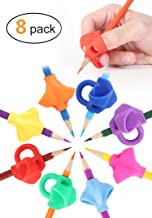 JARLINK Pencil Grips for Kids Handwriting, Aid Grip Trainer Posture Correction Finger Grip for Kids, Adults, Arthritis Designed for Righties or Lefties (8PCS)