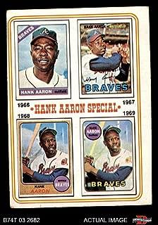1974 Topps # 5 Special 1966-69 Hank Aaron Atlanta Braves (Baseball Card) Dean's Cards 4 - VG/EX Braves