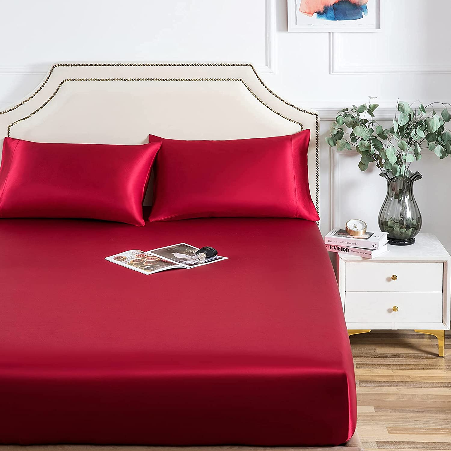 1 Piece Fitted Sheet In a popularity Luxurious Satin with Softes Price reduction 100% Hi