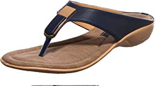 Khadim's PVC Sole Fashion Slippers for Women, Lightweight & Water Resistant (Navy)