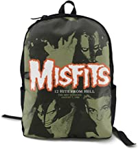 Misfits 12 Hits From Hell Unisex,lightweight,durable,school Backpack,multi-function Backpack,travel Backpack,school Bag