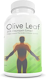 The Best Olive Leaf Extract Supplement - 20% Oleuropein - Powerful Immunity, Cardiovascular Support & Antioxidant Pills fo...