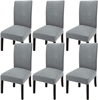GoodtoU Chair Covers for Dining Room Chair Covers Dining Chair Covers (Set of 6, Light Gray)