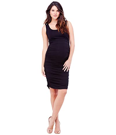 Ingrid & Isabel Maternity Shirred Tank Dress (Jet Black) Women
