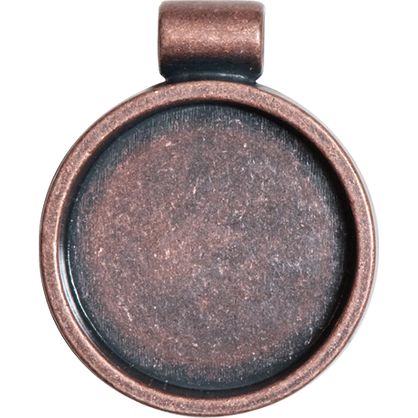 Lisa Pavelka Antique Copper Circle Bezel Settings, Nickel and Lead Free, 1