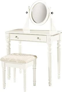 Linon Home Decor Lorraine Vanity Set, White