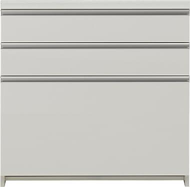 パモウナ 食器棚WL パールホワイト 幅80×高さ85×奥行45 日本製 WL-S800K下台