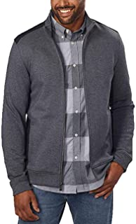 Calvin Klein Jeans Men's Full-Zip Fleece Mock Neck Sweatshirt Jacket