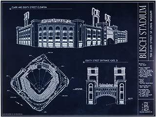 Busch Stadium Blueprint Print