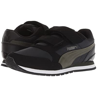 Puma Kids ST Runner v2 NL V (Little Kid) (Puma Black/Forest Night) Boys Shoes