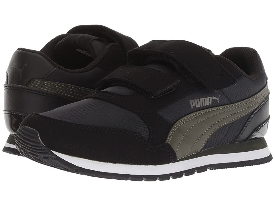 Puma Kids ST Runner v2 NL V (Little Kid) (Puma Black/Forest Night) Boys Shoes