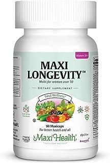 Maxi Health Longevity - Multivitamins & Minerals Supplement for Women Over 50-60 Capsules - Kosher