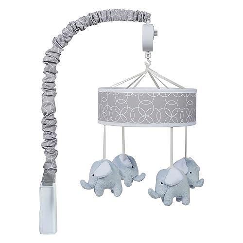Bacati Elephants Musical Mobile Blue//Gray