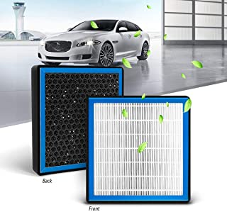 KAFEEK HEPA Honeycomb Cabin Air Filter Fits CF11182, 80291-T5R-A01, 80292-TF0-G01, 80291-TF0-405, Replacement for Honda Civic/Fit/CR-Z/Insigh/CR-V, Includes Activated Carbon Particles