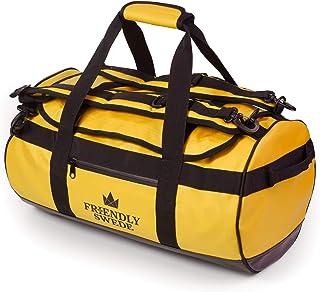 The Friendly Swede Wasserfeste Reisetasche Duffle Bag Rucksack - 30L / 60L / 90L - Seesack, Sporttasche Duffel Dry Bag mit Rucksackfunktion - SANDHAMN Gelb, 30L