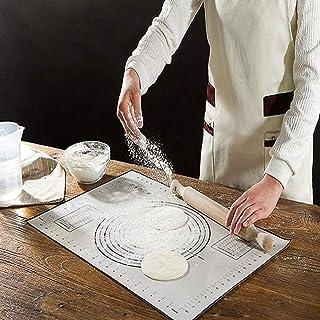 AYADA Grande Tapis Silicone Pâtisserie Tapis de Cuisson 70x50 cm, Silicone Pastry Baking Mat Tapis Pate Multi-diamètres Ta...