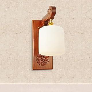 MX Light Fixture Real Wood Sapele Chinese Corridor Bedside Classical Single Headlights (3~5) ㎡