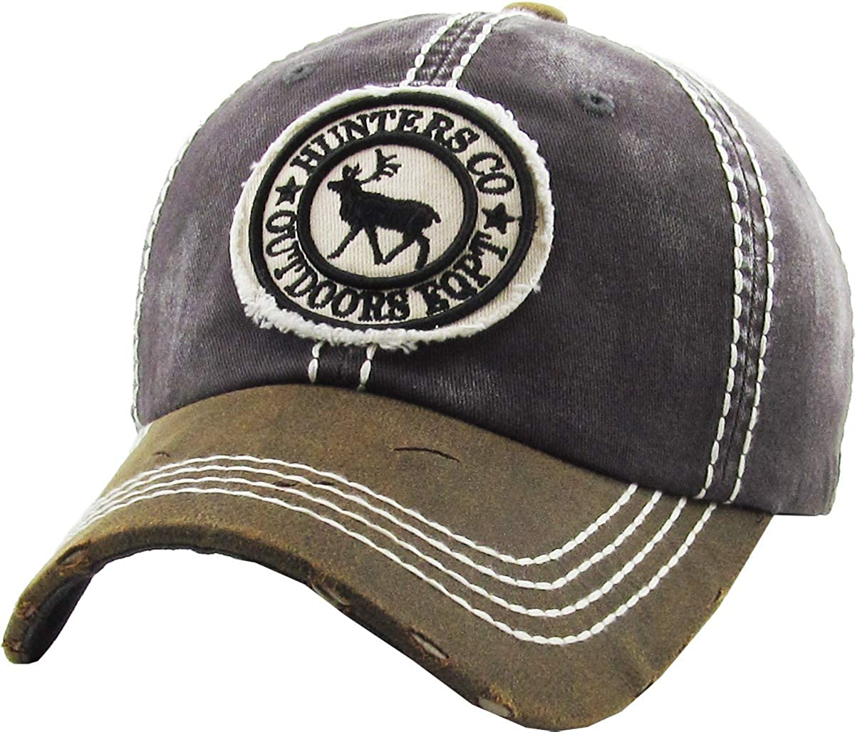 KBETHOS Outdoor Hunting Tactical Distressed Baseball Cap Dad Hats Adjustable Unisex