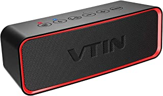 Vtin R2 Portable Bluetooth Speaker, IPX6 Waterproof Bluetooth Speaker with Rich Bass, 14W Loud HD Sound Compatible for phone-Black