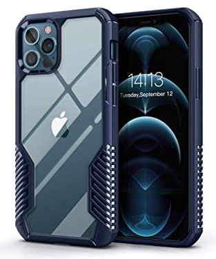 MOBOSI Vanguard Armor Compatible with iPhone 12 Pro Max Case,Rugged Cell Phone Cases,Heavy Duty Military Grade Shockproof Drop Protection Cover 6.7 inch 2020 (Navy Blue)