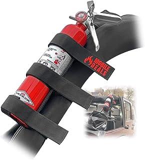 Mobile Deals Fire Extinguisher Adjustable Roll Bar Holder Mount Bracket compatible with Jeep Wrangler Unlimited, CJ, JK, T...