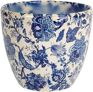 Ivyline Monza Vintage Blue Indoor Planter Plant Pot Flower Pot