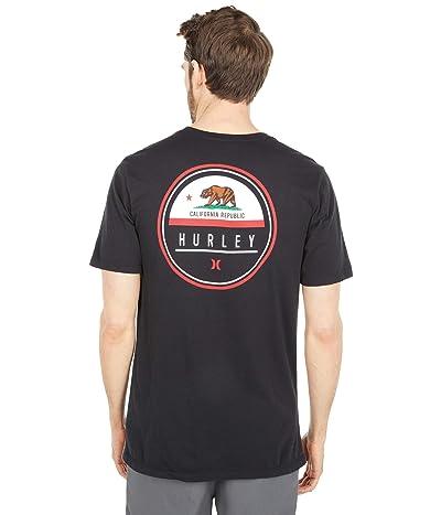 Hurley Destination Flag Short Sleeve Tee (Black/California) Men