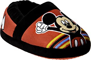 Mickey Mouse Boys Indoor Slippers   Warm Plush Lightweight Slippers