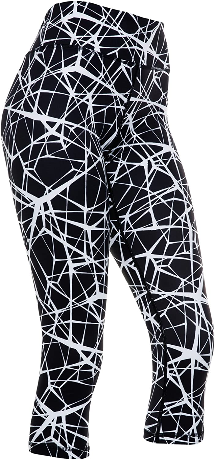 Womens Compression Capri Leggings  Tights for Running, Yoga, Working Out  High Waisted, Body Slimming Pants