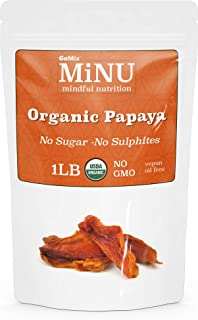 Sponsored Ad - MiNU Organic Raw Dried Papaya (16 oz (1 lb) #1 Paleo snack, MiNU Mindful Nutrition, No Sulfur, No Added Sug...