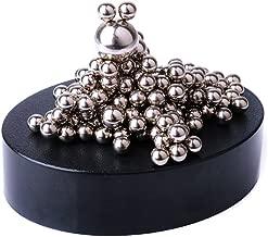 MEYALL Desktop Magnetic Sculpture Toy, Desk Decor Stress Relief Fidget Toys for Anxiety Autism Boredom, Intelligence Imagination Patience Creativity Development (Set of 180pcs Balls+ 1 Magnet Base)