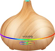 VicTsing Essential Oil Diffuser, 300ml Oil Diffuser with 7 Color Lights and 4 Timer, Aromatherapy Diffuser with Auto Shut-...