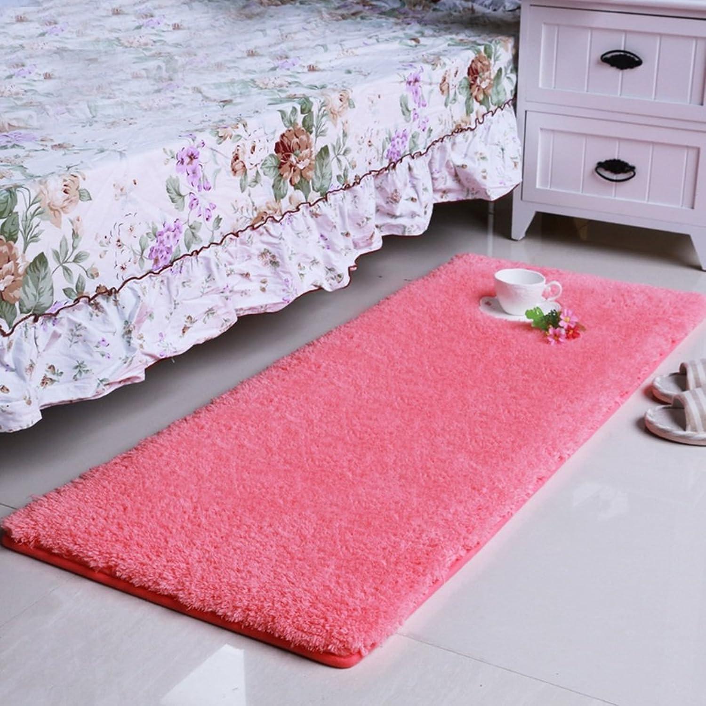 LXF Doormats Carpet Living Room Simple Modern Bedroom Rectangle Bedside Tea Table Multi-Size Optional bluee Pink (color   Pink, Size   70cm120cm)