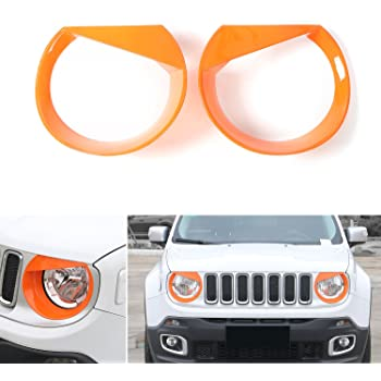 XHULIWQ ABS Car Front Fog Light Trims Marco Cromado para Jeep Renegade 2015-2020