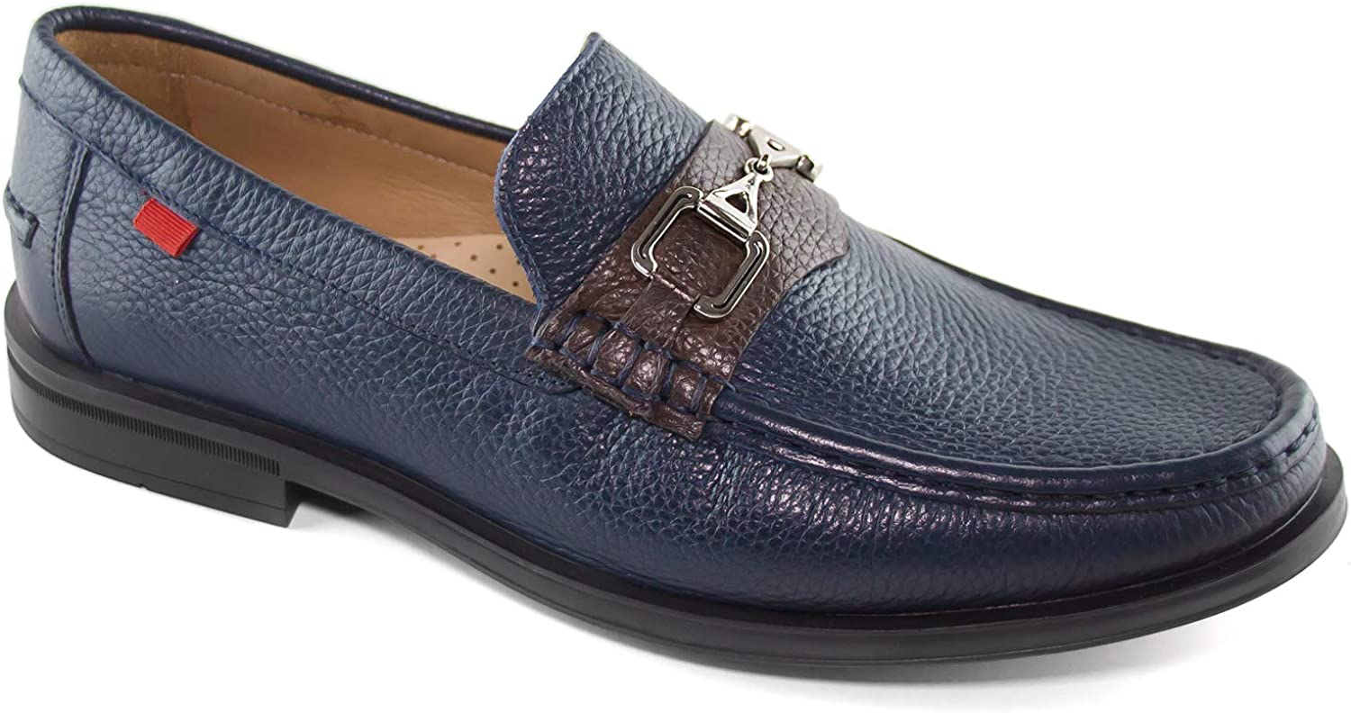 Mens Genuine Leather Made in Brazil Astoria Bit Loafer Marc Joseph NY Fashion Shoes