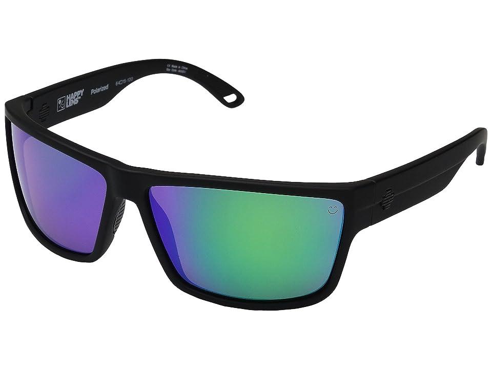 Spy Optic Rocky (Soft Matte Black/Happy Bronze Polar w/ Green Spectra) Fashion Sunglasses