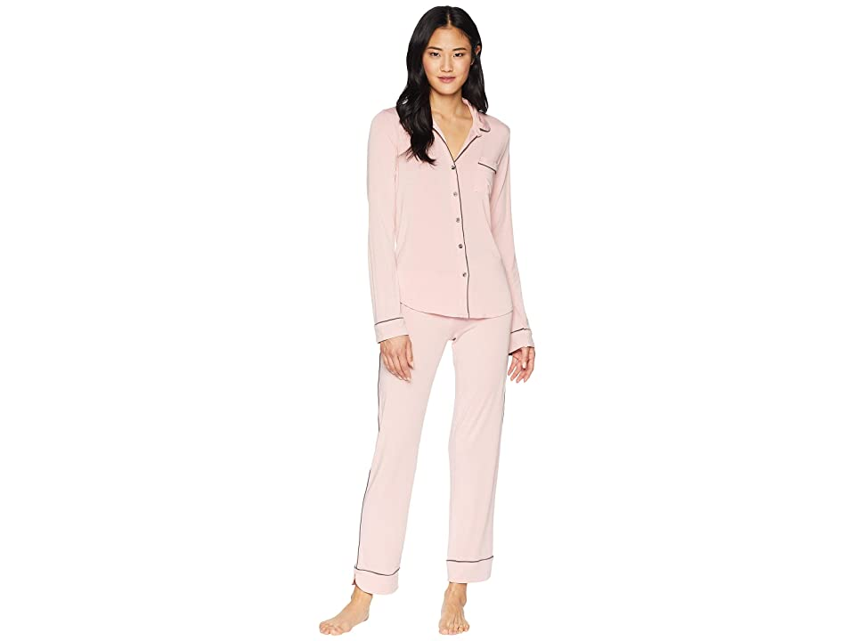 P.J. Salvage Modal Basic PJ Set with Eye Mask (Rose) Women