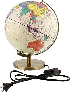 """10"""" Inch (25cm) Illuminated Premium Antique Desktop World Earth Globe"""
