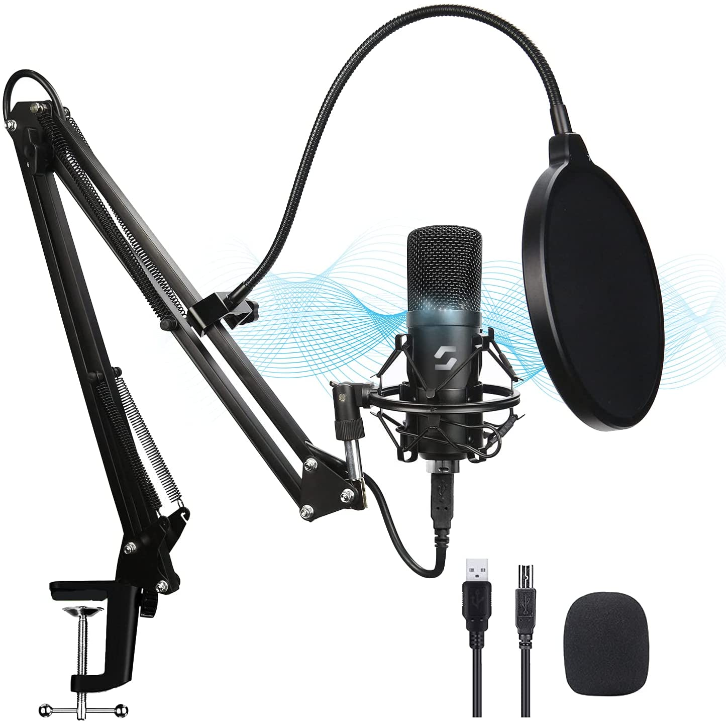 USB Microphone Regular discount Kit Professional Albuquerque Mall Streaming PC Podcast Condenser
