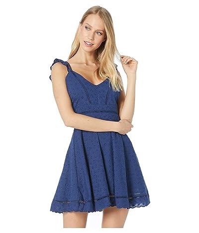 BB Dakota Eyelet You Win Dress (Vintage Blue) Women