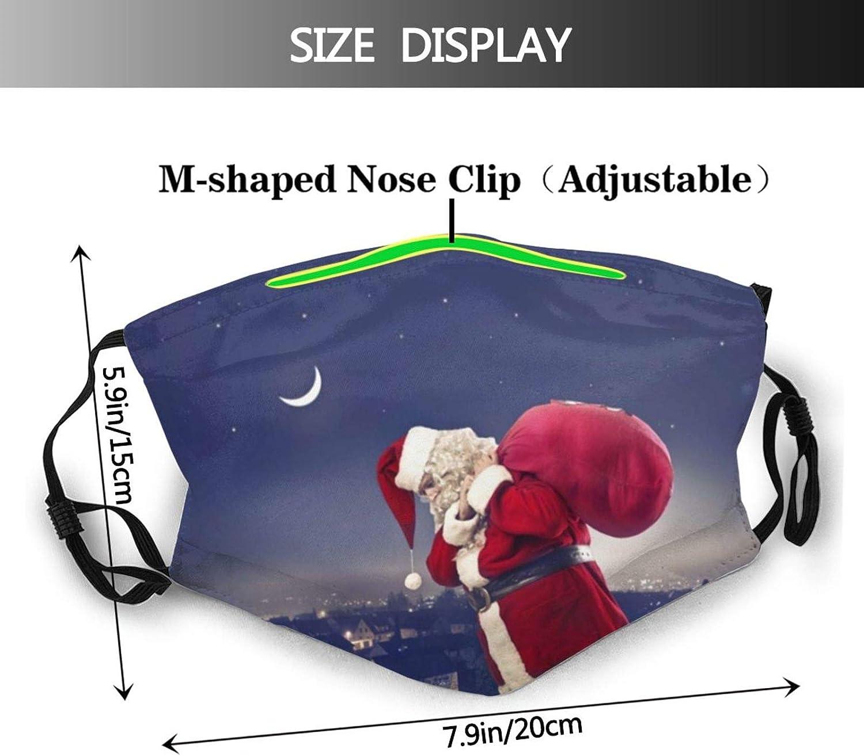 Christmas Santa Claus Reindeers Face Mask Dustproof Breathable Protective Scarf Reusable Adjustable Washable Fashion Bandana
