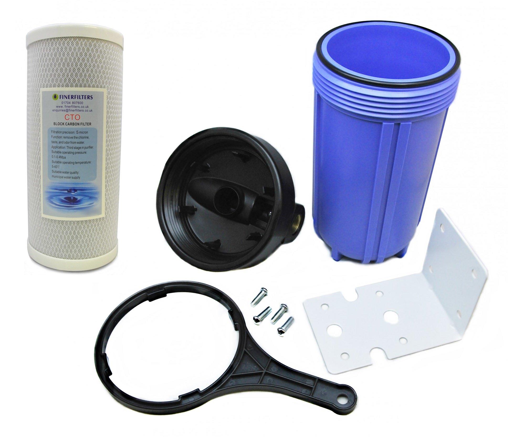 Finerfilters - Sistema purificador de filtro de agua para toda la casa, filtrado de agua para toda la casa con 5 micrones de filtro de bloque de carbono: Amazon.es ...