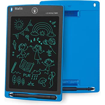 Electronic Doodle Pads Drawing Board Gift for Kids and Adults at Home,School and Office LCD Writing Tablet Blue 8.5-Inch Writing Board Doodle Board