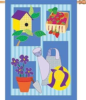 Premier Kites 54154 House Brilliance Flag, Provencale Garden, 34-Inch