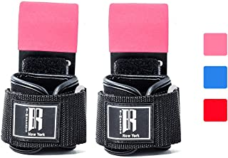 RIMSports Weight Lifting Hooks Heavy Duty - Lifting Wrist Straps for Pull-ups - Deadlift Straps for Power Lifting - Weightlifting Grips & Workout Straps for Weightlifting - Gym Gloves for Men & Women