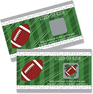 Big Dot of Happiness End Zone - Football - Baby Shower or Birthday Party Game Scratch Off Cards - 22 Count