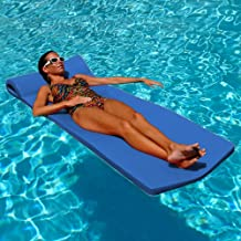 """product image for Texas Recreation Sunsation 1.75"""" Thick Swimming Pool Foam Pool Floating Mattress, Bahama Blue"""