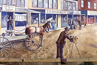 Photo- A mural, completed in 2005, depicting photographer M.C. Ragsdale, shooting a scene along the 200 block of South Chadbourne Street in San Angelo, the seat of Tom Green County, Texas 66in x 44in